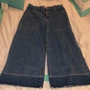 Zara High Waisted Wide Leg Jeans